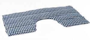 Körnerkissen Füllung - Johanniskern Wärmekissen Nacken Schulter blau-weisse Karos