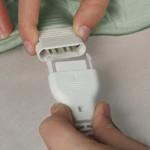 Wärmekissen Nacken - praktische Steckverbindung für Bedienteil