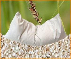 Wärmekissen Füllung - Bio Hirsespreu-Kissen 40 x 80 cm - Bio Hirsespreu Füllung